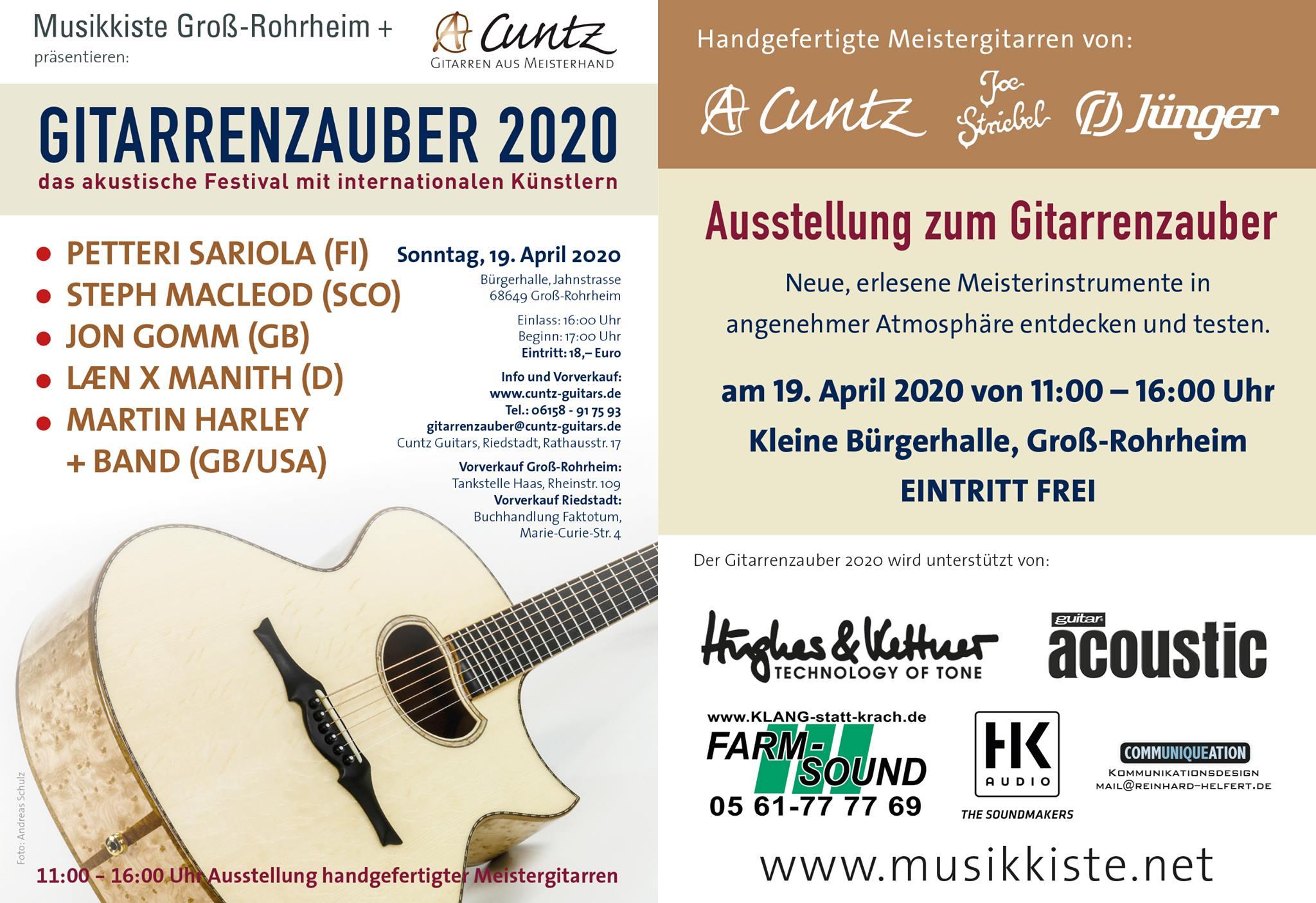 Gitarrenzauber 2020 @ Bürgerhalle | Groß-Rohrheim | Hessen | Deutschland