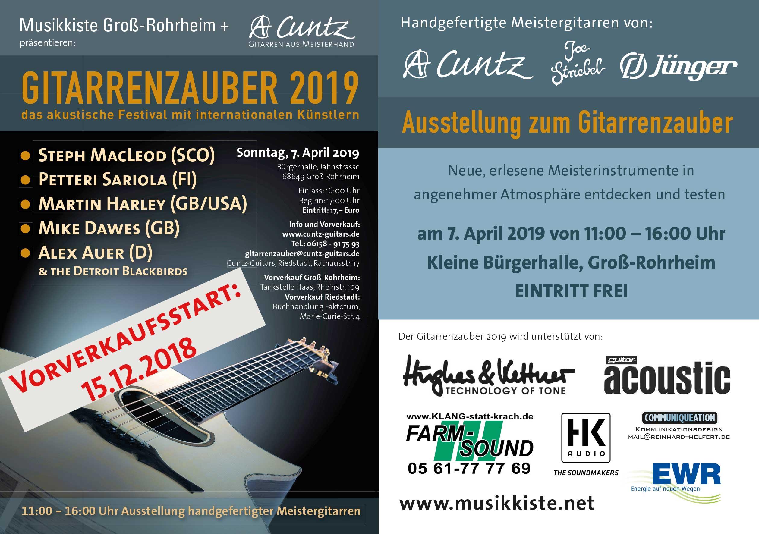 Gitarrenzauber 2019 @ Bürgerhalle | Groß-Rohrheim | Hessen | Deutschland